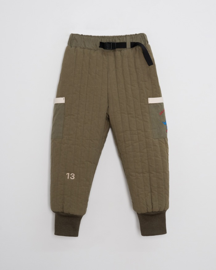 Quilted Padding Pants - khaki [2차 Pre-order 10/26 자정마감]