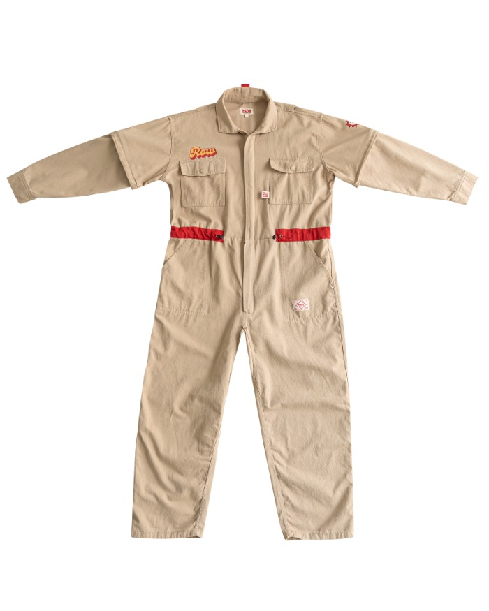 [Adult] Row jump suit - Beige