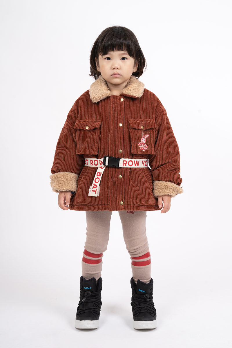 RABBIT CORDUROY FUR JUMPER – BRICK (S size)