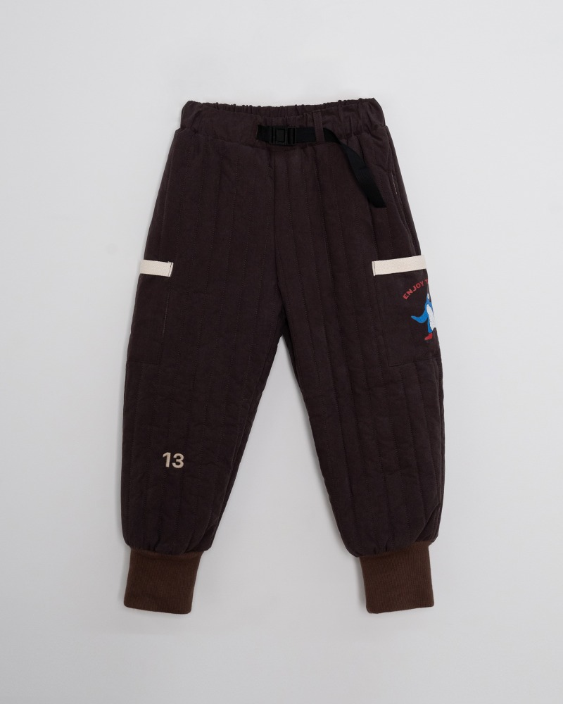 Quilted Padding Pants - brown [2차 Pre-order 10/26 자정마감]