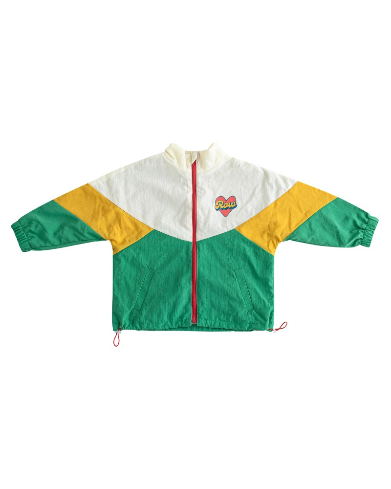 [2차 재입고] Row double-side windbreaker - green