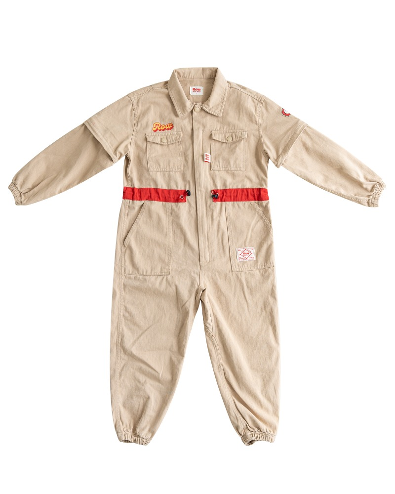 Row Jump suit - Beige
