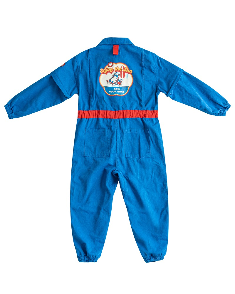Row Jump suit - Blue
