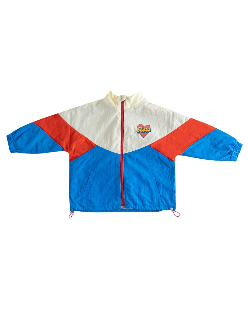 [2차 재입고] Row double-side windbreaker - blue